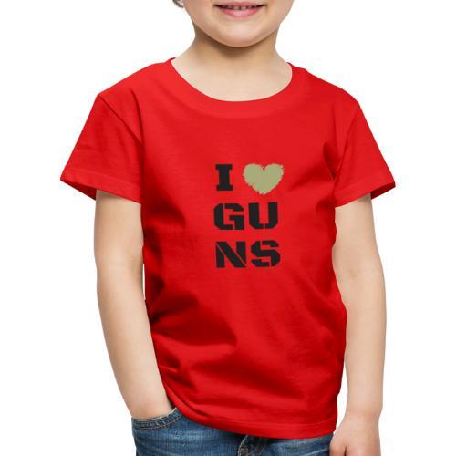 I LOVE GUNS - Koszulka dziecięca Premium