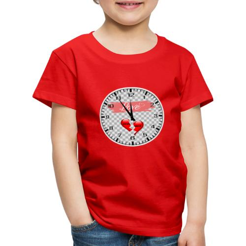 Divorce Love Uhr - Kinder Premium T-Shirt