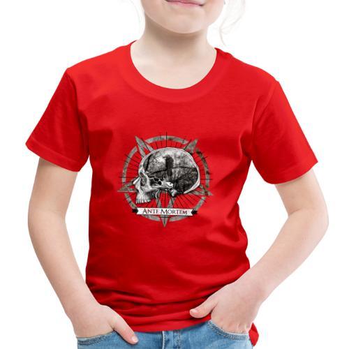 Ante Mortem Raven Skull - Maglietta Premium per bambini