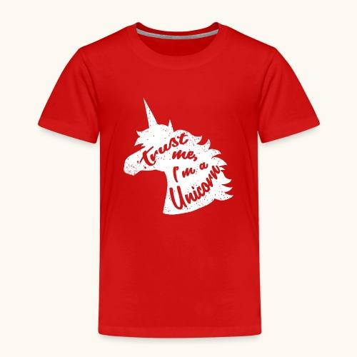 Cadeau de licorne rigolo disant calligraphie blanche - T-shirt Premium Enfant