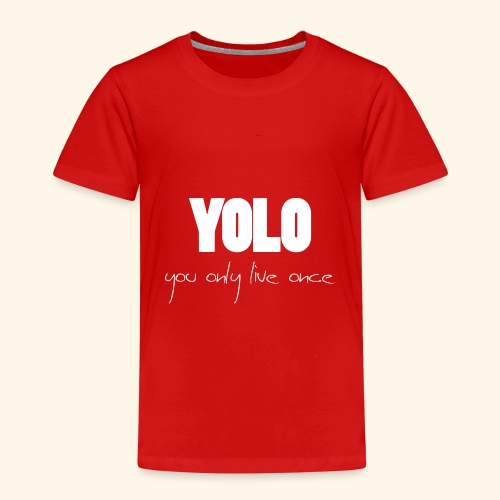 YOLO - white -1 - Kinder Premium T-Shirt