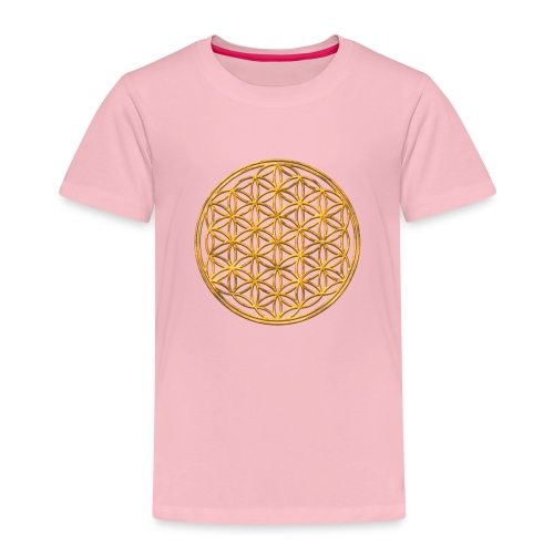 Flower of life GOLD 2 - Kinderen Premium T-shirt