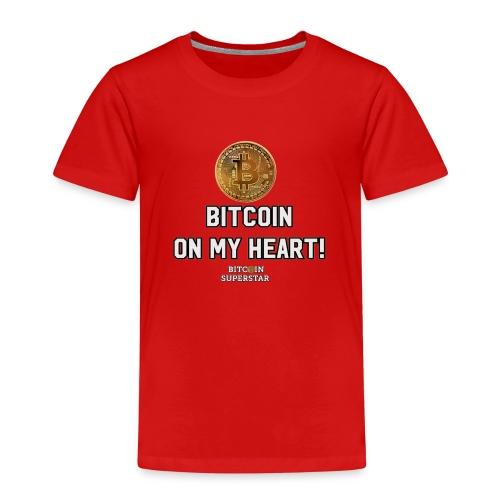 Bitcoin on my heart! - Maglietta Premium per bambini