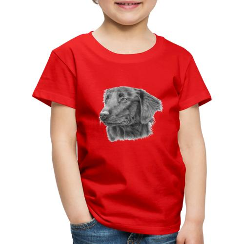 flatcoated retriever bw - Børne premium T-shirt