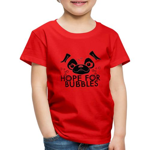 HOPE FOR BUBBLES BLACK MERCH - Kinderen Premium T-shirt