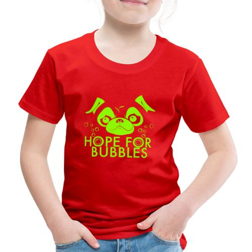 HOPE FOR BUBBLES LIME MERCH - Kinderen Premium T-shirt