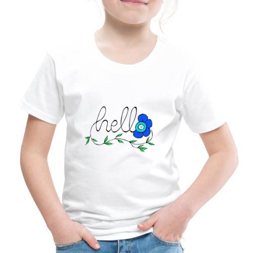 Hello Blume. - Kinder Premium T-Shirt