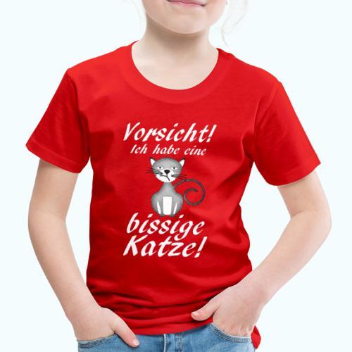 VORSICHT ich habe eine bissige Katze! - Kids' Premium T-Shirt