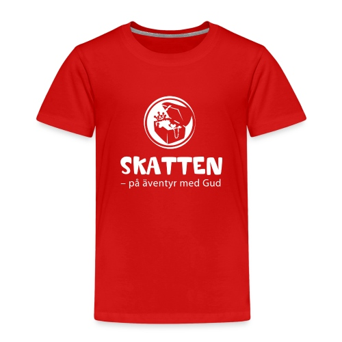 SKATTEN logotyp vit stor png - Premium-T-shirt barn