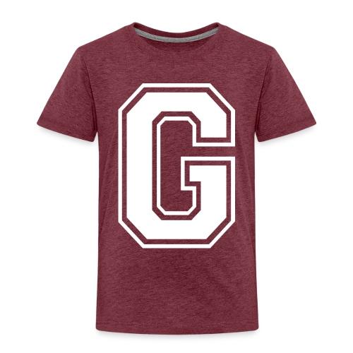 Grime Apparel G Grey Shirt. - Kids' Premium T-Shirt