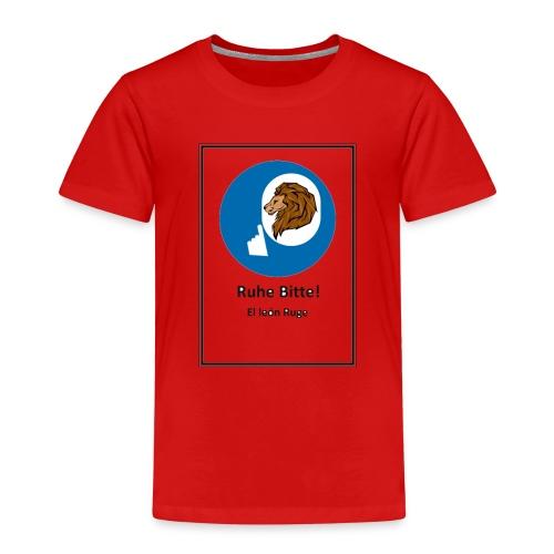 el leon ruge- ruhe bitte - Camiseta premium niño