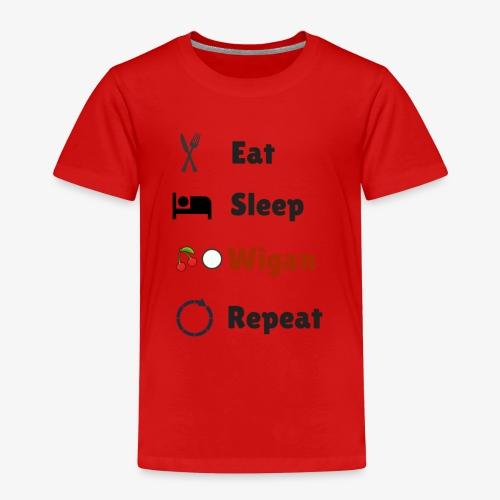 Eat Sleep Wigan Repeat - Kids' Premium T-Shirt