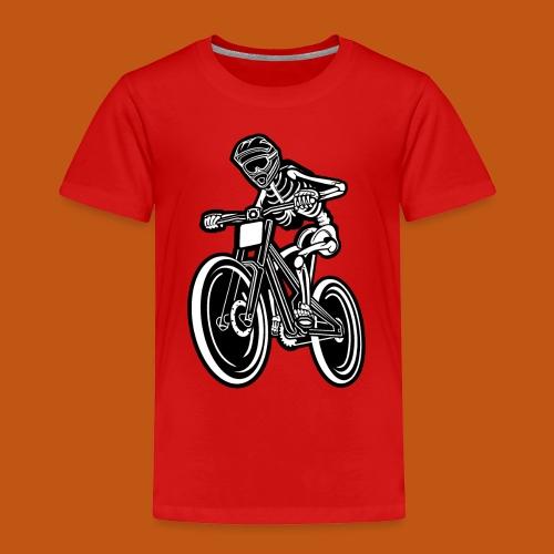 BMX / Mountain Biker 04_schwarz weiß - Kinder Premium T-Shirt