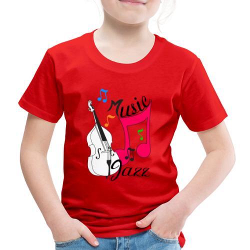 music jazz con contrabbasso - Maglietta Premium per bambini