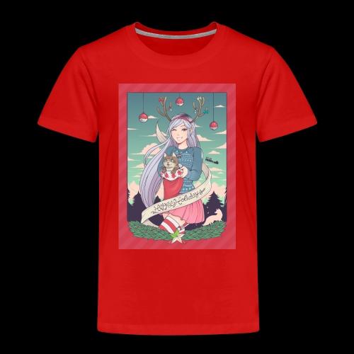 christmas linneafly gray - Premium T-skjorte for barn