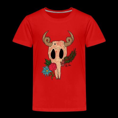 Fantasy-Skull mit Blumen - Kinder Premium T-Shirt