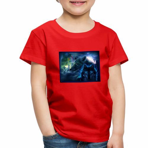3 wunderschöne Wölfe - Kinder Premium T-Shirt
