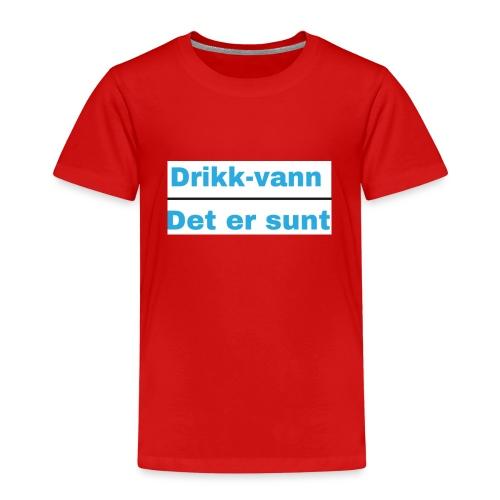 Drikkvannmerch - Premium T-skjorte for barn