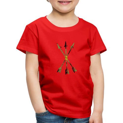 Scoia tael emblem green yellow black - Kids' Premium T-Shirt
