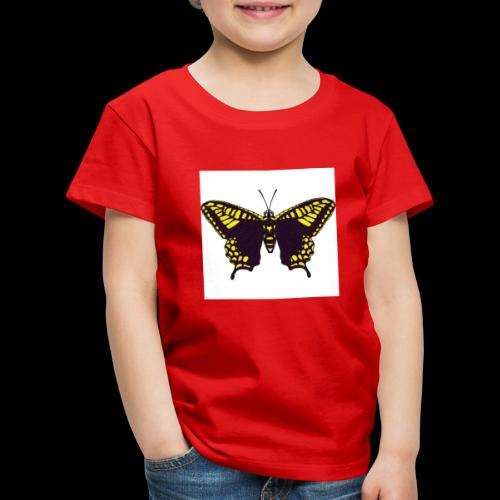 Black & Yellow Butterfly - Kids' Premium T-Shirt