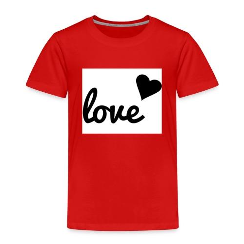Handyhülle schwarz weiß love - Kinder Premium T-Shirt