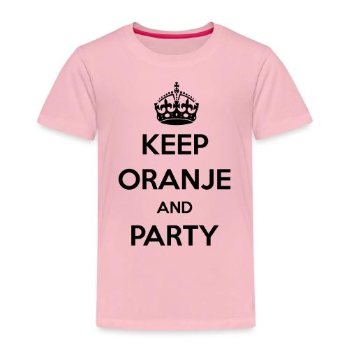 KEEP ORANJE AND PARTY - Kinderen Premium T-shirt