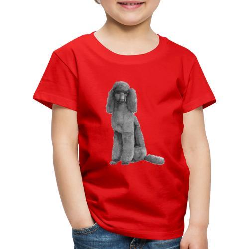 poodle standard black / kongepuddel sort - Børne premium T-shirt