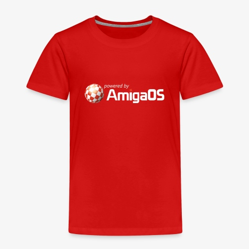 PoweredByAmigaOS white - Kids' Premium T-Shirt