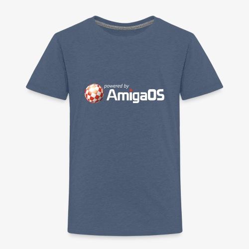 PoweredByAmigaOS white - Kids' Premium T-Shirt