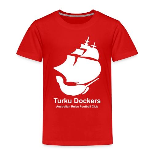 Turku Dockers VALKOINEN - Lasten premium t-paita