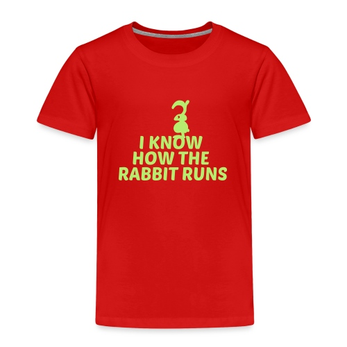 i know how the rabbit runs denglisch hase kaninche - Kinder Premium T-Shirt