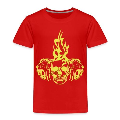 tete mort dead skull tribal lion - T-shirt Premium Enfant