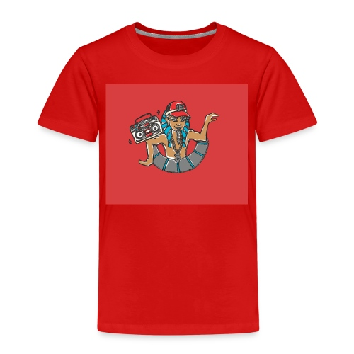 Hip Hop Dancing Pharaoh red background - Kids' Premium T-Shirt
