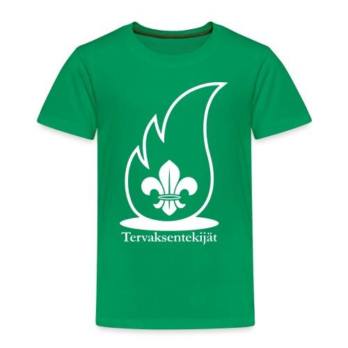 Valkoinen lieska - Lasten premium t-paita