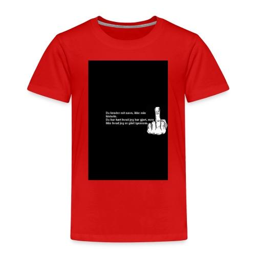 du kender mig ikke - Børne premium T-shirt