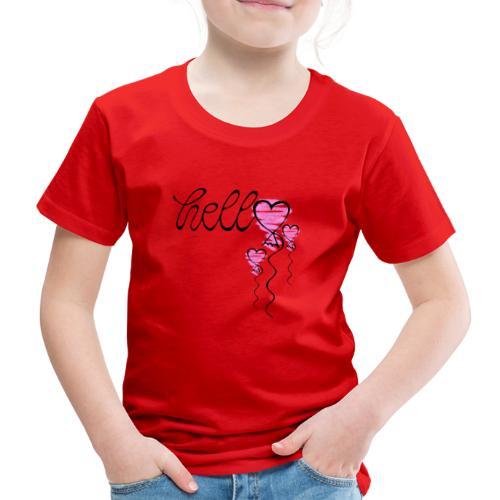 Hello Herzballon - Kinder Premium T-Shirt