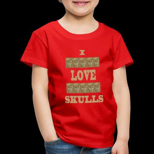 J'AIME LES TÊTES DE MORT - T-shirt Premium Enfant