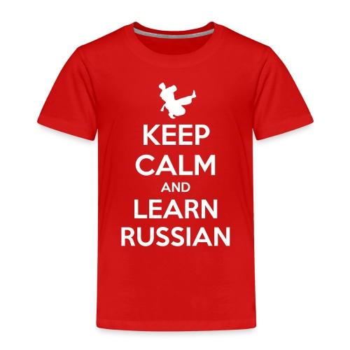 keep Calm - Learn Russian - Maglietta Premium per bambini