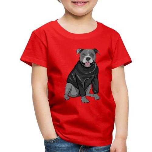 Süßer Hund Pullover Pulli Stafford Geschenk Idee - Kinder Premium T-Shirt
