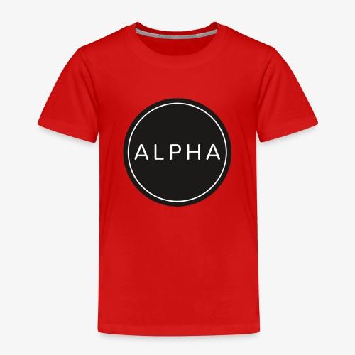 alpha logo - Kinder Premium T-Shirt