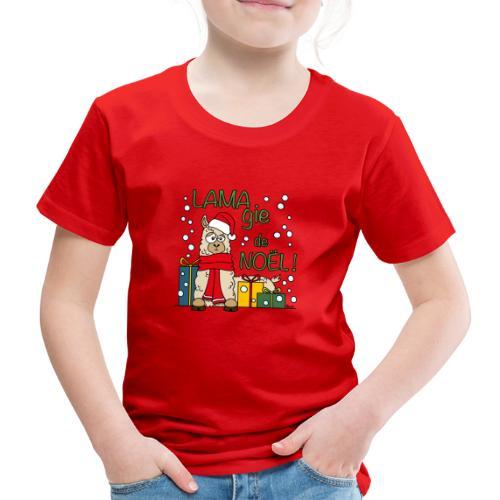 Lama, Magie de Noël, Happy Christmas, Pull moche - T-shirt Premium Enfant