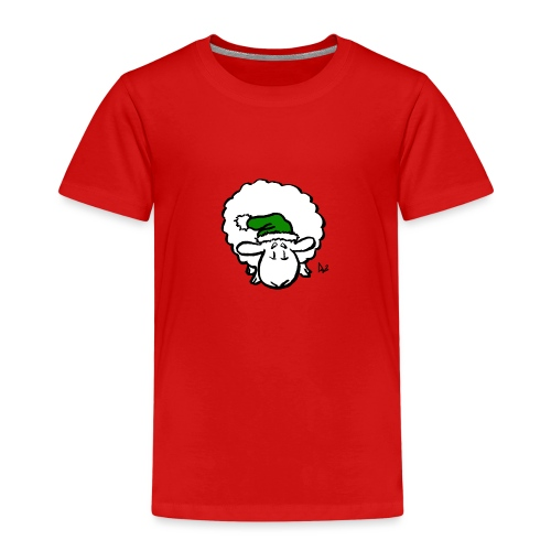Santa Sheep (green) - Kinder Premium T-Shirt