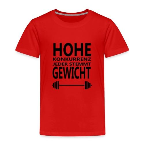 HOHE KONKURRENZ JEDER STEMMT GEWICHT - Kinder Premium T-Shirt