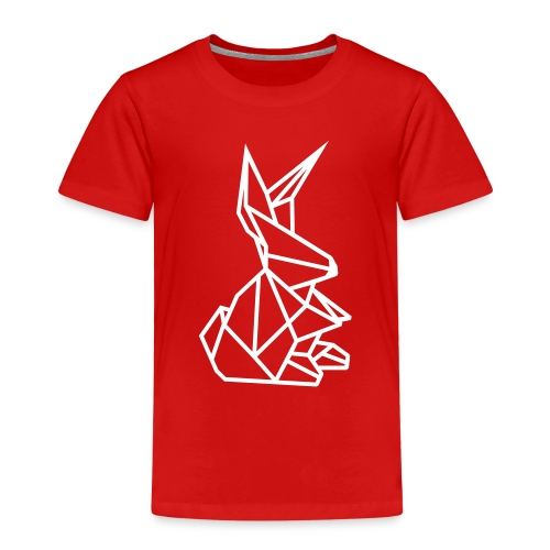 Origami Kunst Hase Zwergkaninchen Kaninchen in - Kinder Premium T-Shirt