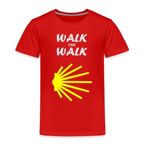 Walk the Walk - Camino de Santiago - Børne premium T-shirt