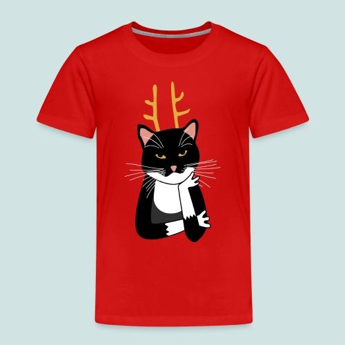 Sarcastic Christmas Cat - Kids' Premium T-Shirt