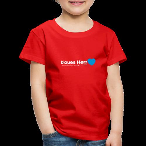 blaues Herz - Kinder Premium T-Shirt