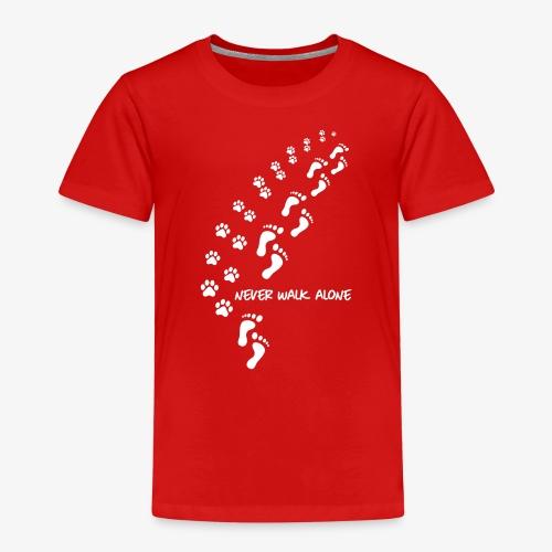 never walk alone dog - Kinder Premium T-Shirt