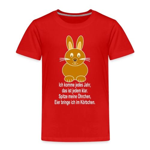 Hase mit weisser Schrift - Kinder Premium T-Shirt