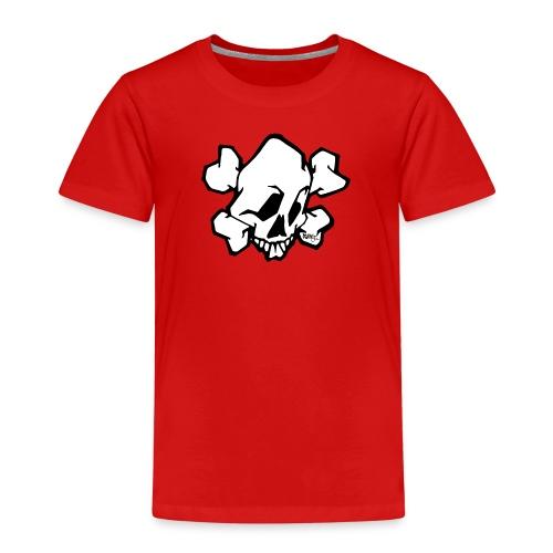 skull white ver01 fresh 86 - Børne premium T-shirt